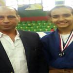 ماهي محمد تحرز فضية بطولة الجمهورية للجودو