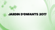بدء العد التنازلي .. Jardin d'enfants 2017