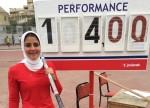فاطمة البنداري بطلة الجمهورية في القفز بالزانة لأول مرة في تاريخ سبورتنج