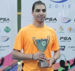 زاهد شرين يفوز ببطولة chamberlain open 2018للإسكواش