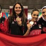 ناردين إيهاب تحرز ذهبية منافسات الفرق ببطولة أفريقيا للسلاح